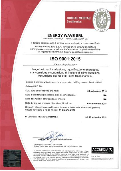 Energy wave srl scan 9001