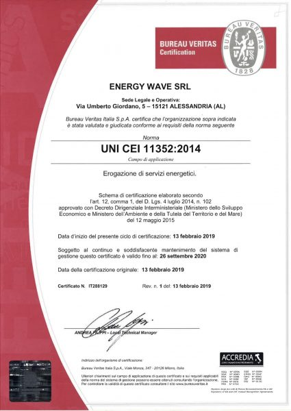 Energy wave srl uni 11352